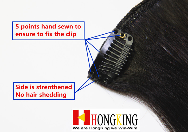100% human hair clip in hair for african american