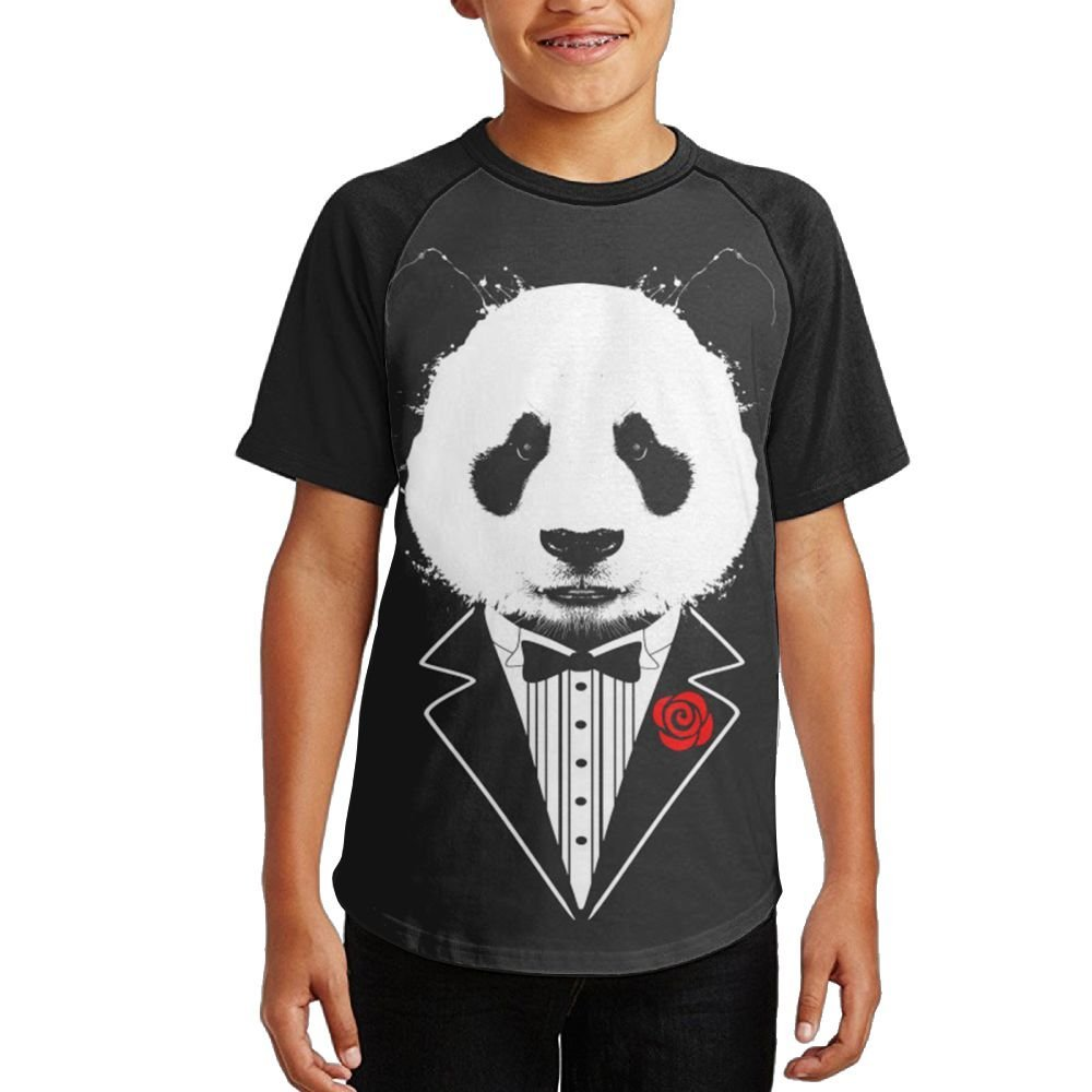 cb84f3583 Get Quotations · Teenager Cool Tuxedo Panda Fashion Raglan Jersey Short  Sleeve Tshirt Soft Quick-dry Tee Sports
