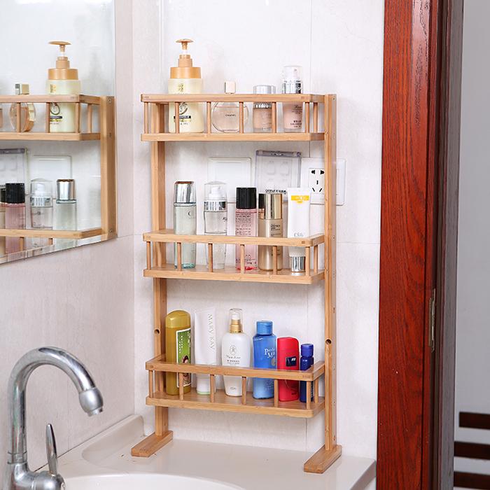 4 tier bamboo fridge storage rack