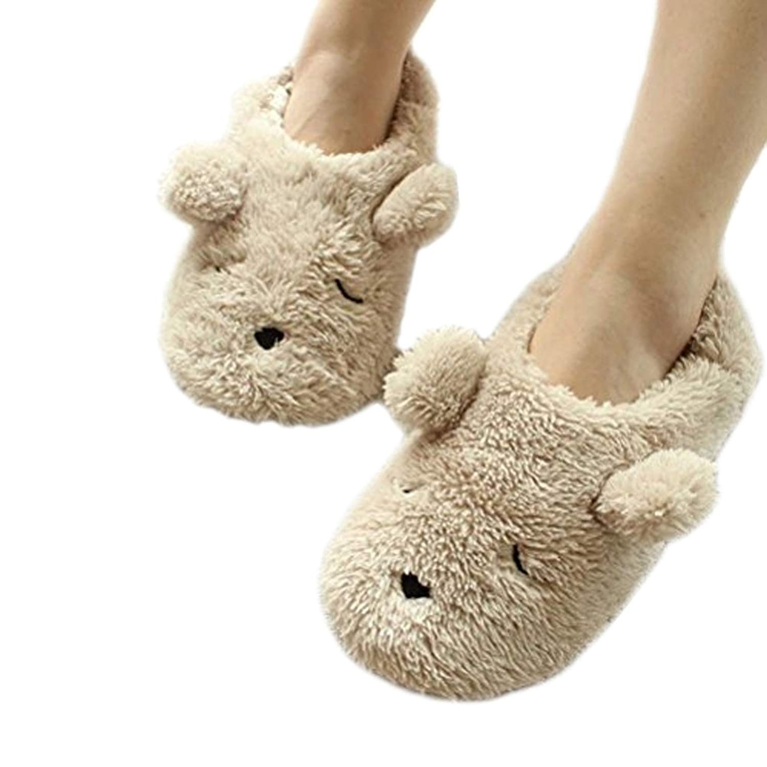 a19f24707e44 Get Quotations · Fakeface Winter Warm Fleece Slippers