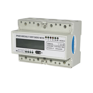 ISO 9001 Factory YEM041AL Three Phase Four Wire Electronic Multi-rate Energy/KWH Meter/CT Din Rail RS485 Multi-tariff Active
