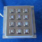 12 keys 4x3 waterproof metal numeric atm keypad skimmer with rear panel mounting