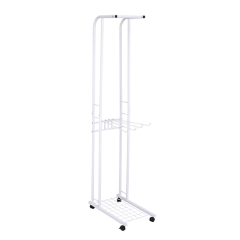 Multi storage standing clothes hanging rack with necktip hanger with wheels