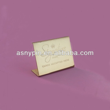 table name plate tag for employee buy promotional gold metal name