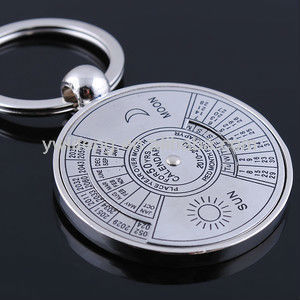 souvenir gifts 50 years calendar metal keychain