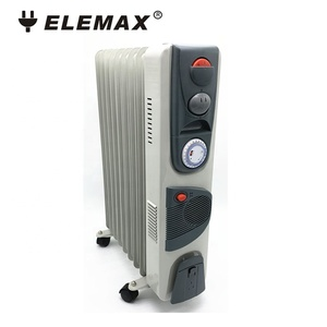 Portable homeuse electric oil radiator heater with turbo fan