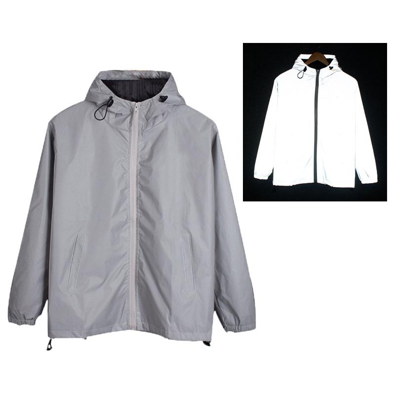 Nueva moda personalizar cálido bombardero 3 abrigo m hombres exterior chaqueta reflectante para invierno