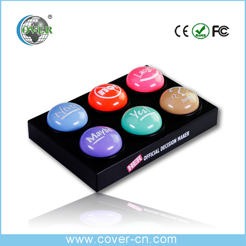wholesale hot selling Recordable Music Box,Sound Easy Button,Custom Talking Push Button