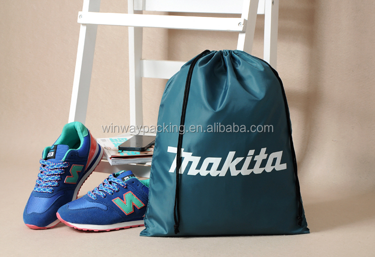 Sample Free 420D Polyester High Quality Drawstring Bag Shoe