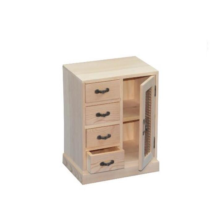 Handmade Craft Wood Small Cabinet Drawer Storage Jewelry Box