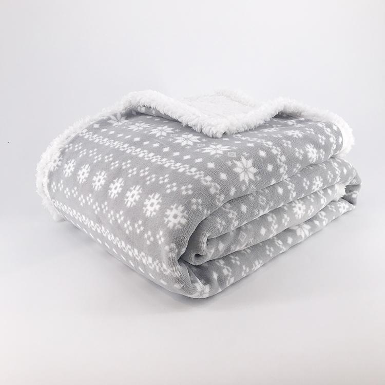 Cerf de noël à motif Corail molleton sherpa réversible tv canapé couverture