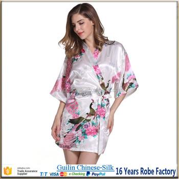 outlet store dc895 1cf32 Seidige Satin Floral Designs Kimono Nachthemd - Buy Damen Nacht Robe,Satin  Kimono Robe,White Satin Nachthemd Product on Alibaba.com
