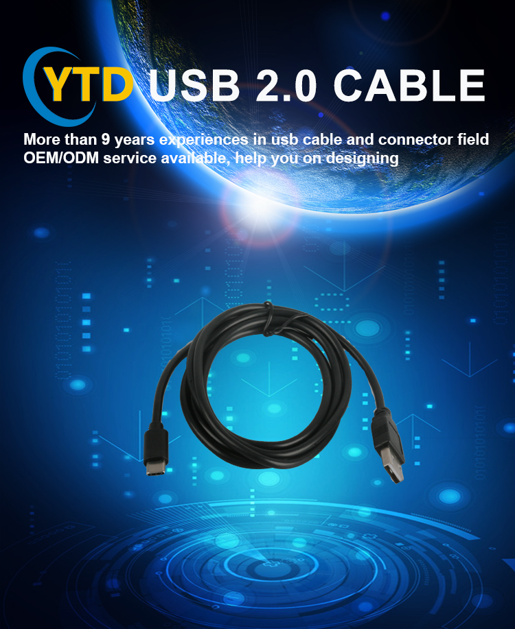 Factory wholesale Double port charging cable usb v2.0 micro c cable