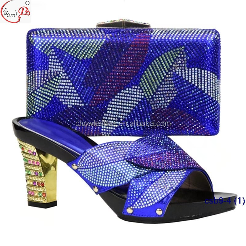 wedding arrival bag Promotion slipper New heel style crystal African women shoes White high match UZ1w75xZ