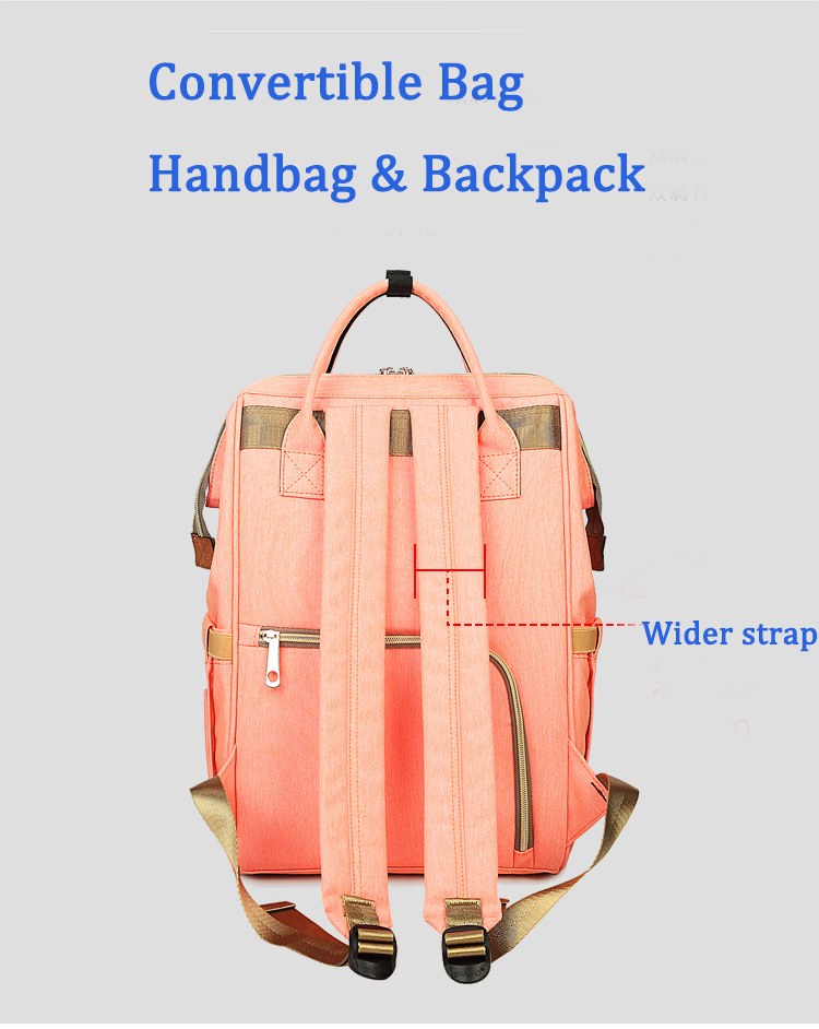 30% off  2018 USB Large capacity multi function nappy backpack lightweight mummy baby diaper backpack