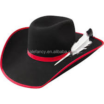 fdbb6febb466a Fancy women floppy hat black with red band fedora hat for feathers QHAT-0004