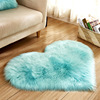 2019 most popular custom heart shape sheepskin fur rugs faux fur carpet
