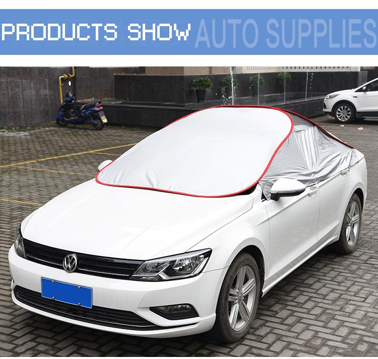 Hot Koop Handig Spits Waterdicht Staaldraad Zon Bescherming Half Auto Cover