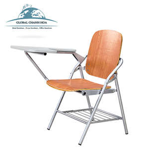Plywood study chairs training chairs student furniture school chair with tablet for training