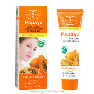 Papaya facial cleanser Soft Clean Exfoliating cream peeling gel face care body creams