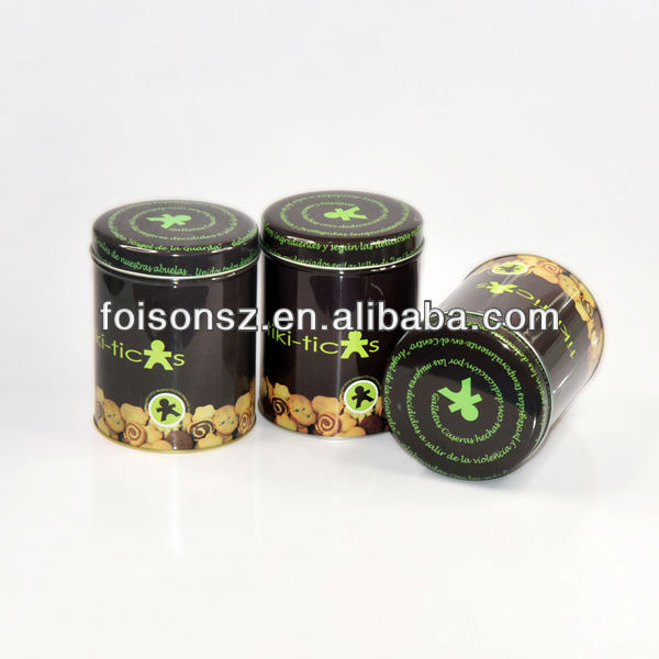 round shaped tin cans for chocolate package