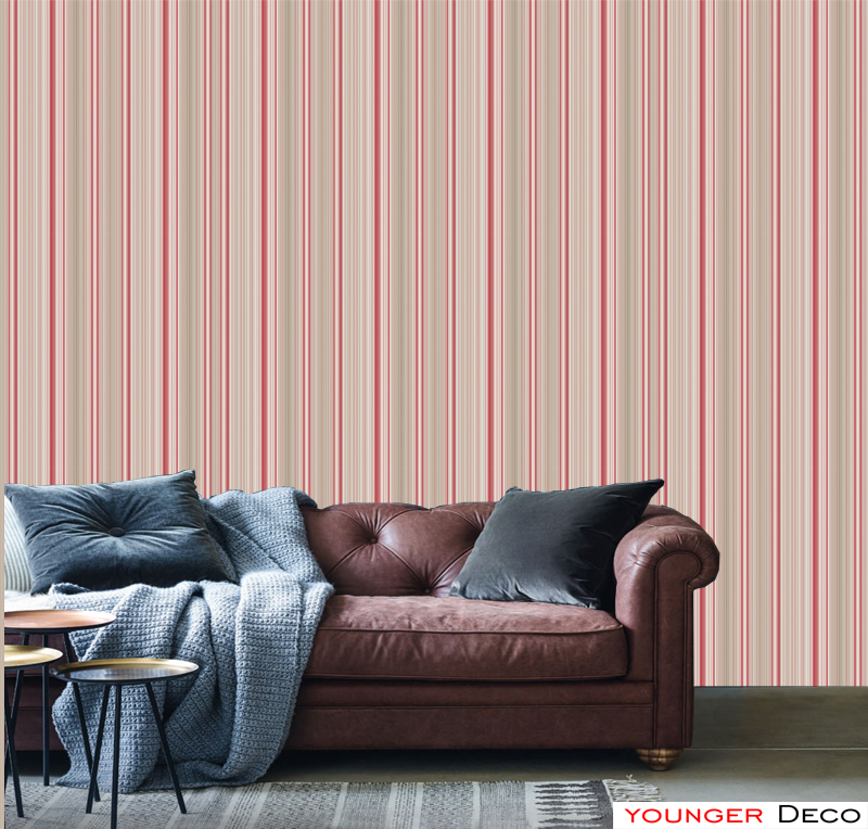 Wholesale vertical strips non-woven wallpaper simple modern 3D wall paper for interior home and hotel decoration