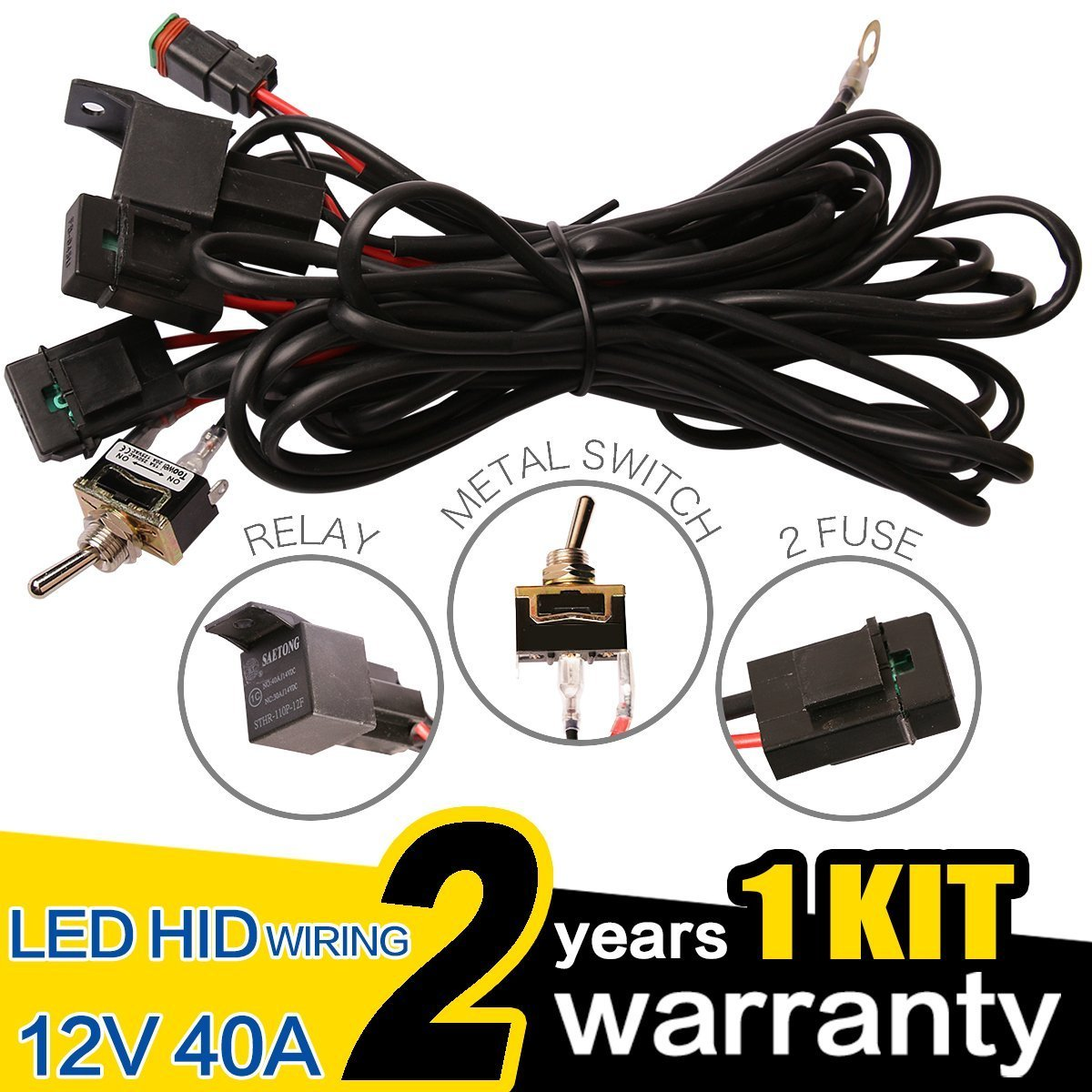 Cheap 12v Switch Wiring Find Deals On Line At Nilight Harness Install Get Quotations Wowled Premium Led Hid Work Driving Light Bar 40a Relay Kit