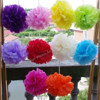 Folding Large Tissue Paper Flowers