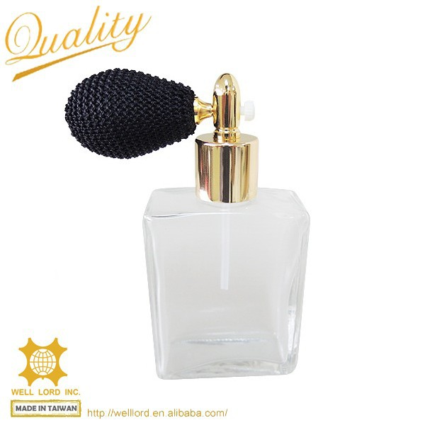 Royal retro lady home decor square clear glass bottle fashion perfume