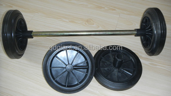 Heavy duty 200mm Rubber solid tire for trash can