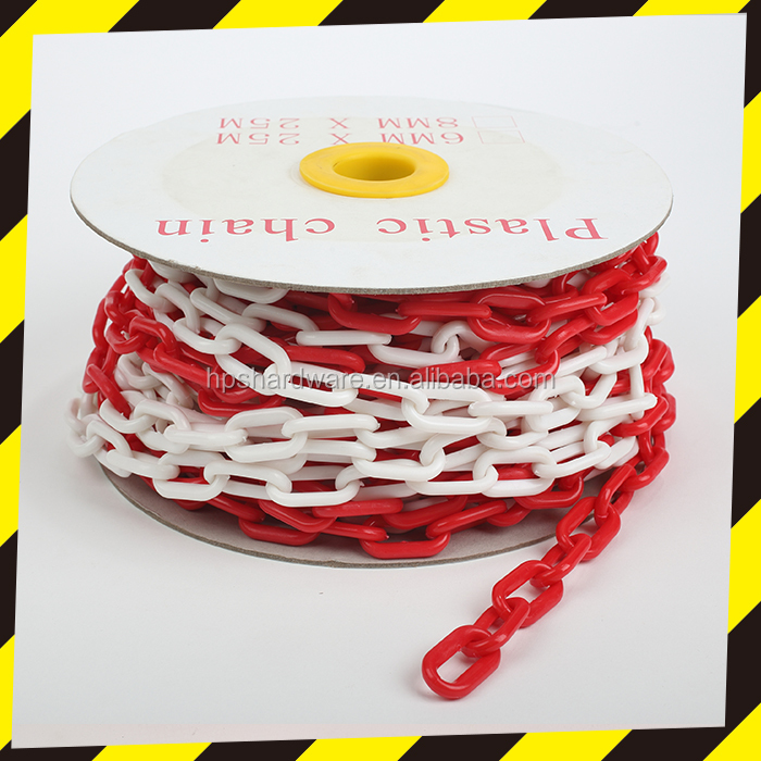Hot Sale Colorful Plastic Barrier Chain Laid across a Roadway