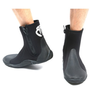 Heavy duty zipper design neoprene warm diving shoes