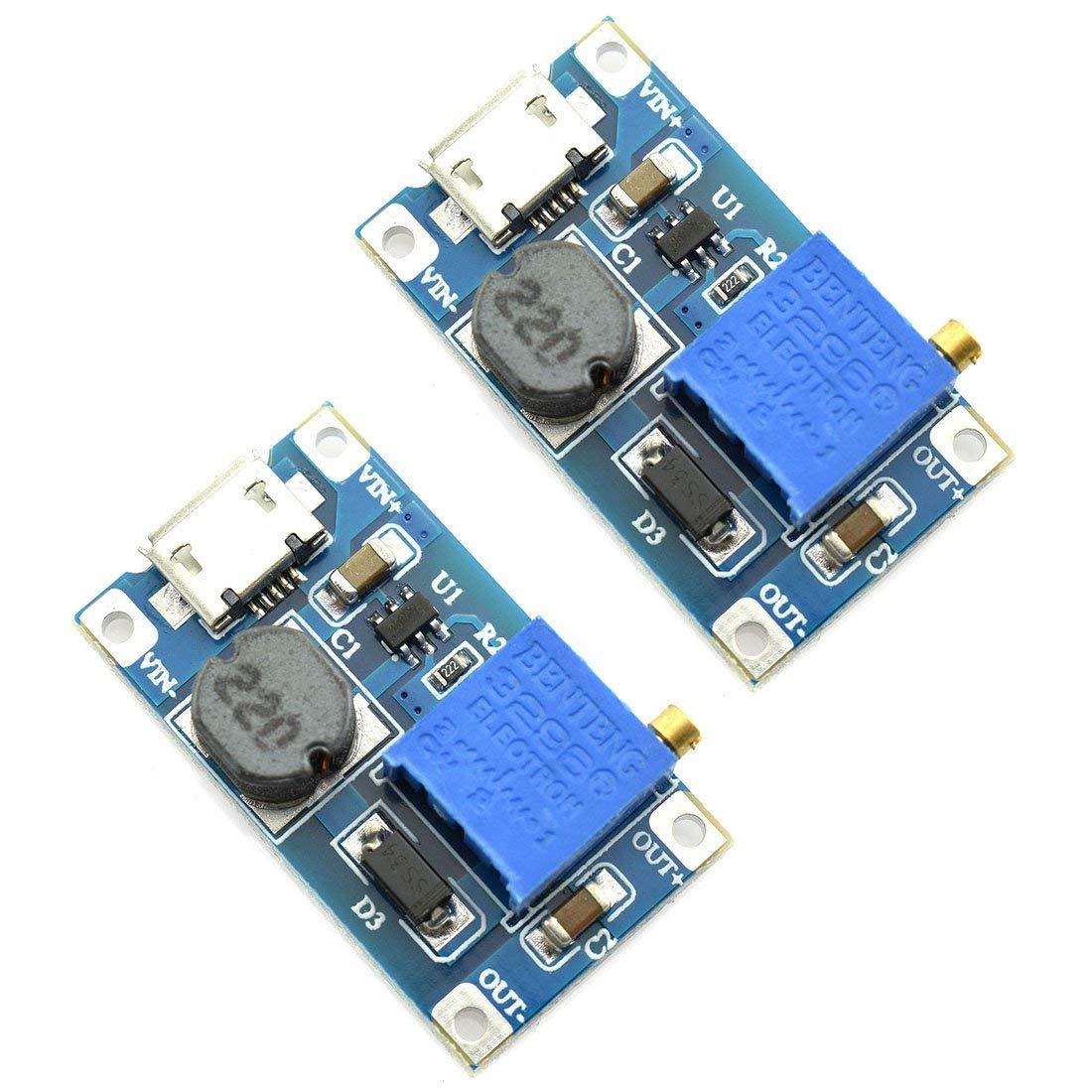 Cheap 24v Boost Converter Find Deals On Line At Usb 5v To 12v Dcdc Stepup Circuit Get Quotations Dzs Elec 2pcs Mini Dc Adjustable Voltage Regulator 2v