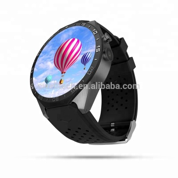 Round Screen Single NANO SIM Card Quad core 3G WIFI GPS KW88 smart watch