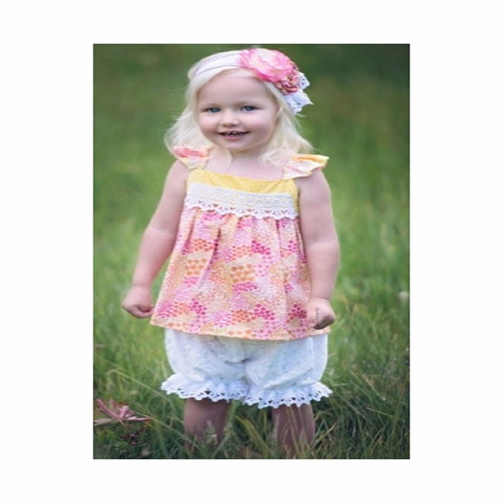 Wholesale Designer Little Girl Fall Floral Ruffle Clothes