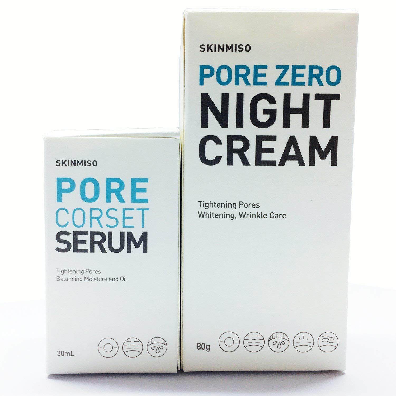 [SKINMISO-KOREA] SET - Pore Zero Night Cream 80g + Pore Corset Serum 30ml (Tingtening & Minimizes pores)