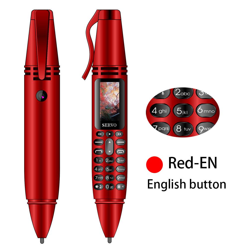 SERVO K07 0,96 дюймов маленькая ручка для экрана мини мобильный телефон с двумя sim-картами Bluetooth дозвон телефон с фонариком ручка для записи(Китай)