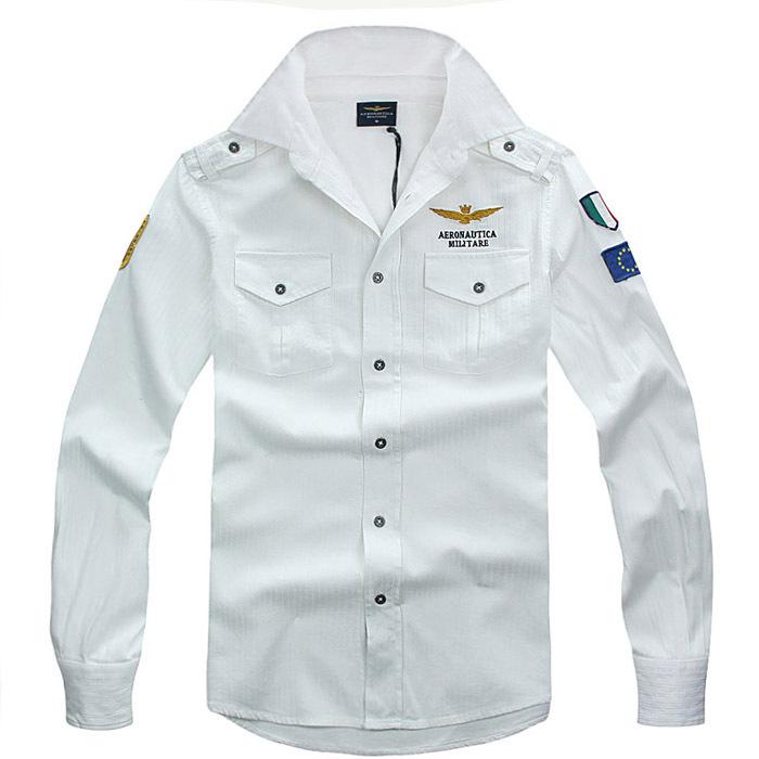 Get Quotations · 2015 NEW ARRIVAL Aeronautica Militare Men Shirt italy Army  Slim Shirts Long Sleeve Army fashion Cotton 1d616b34a