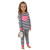 100% cotton pink heart kids pajamas wholesale factory high quality children clothing