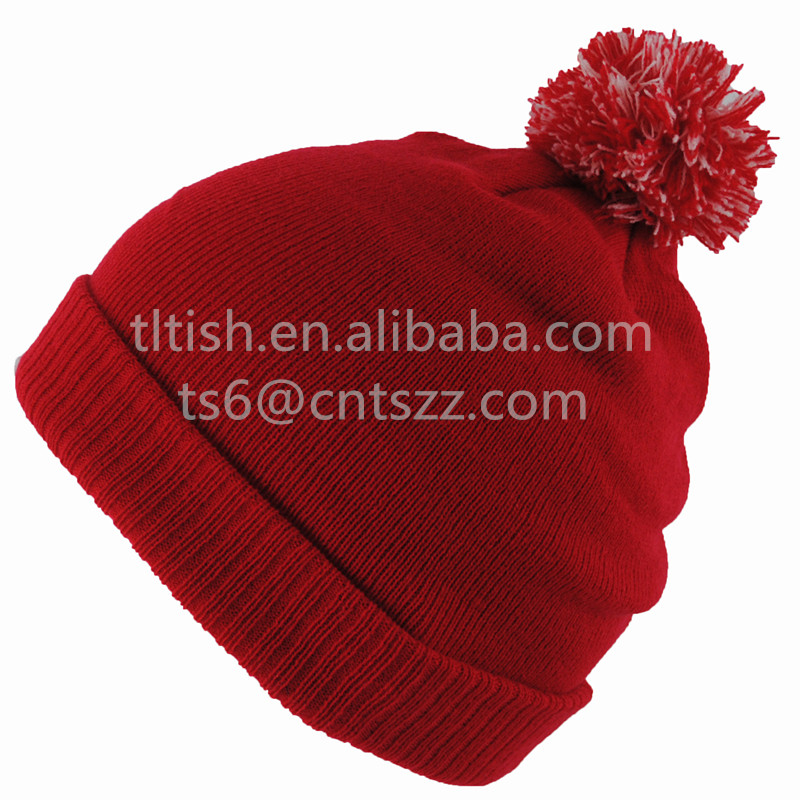 Best quality FASHION winter knitting hats red hat