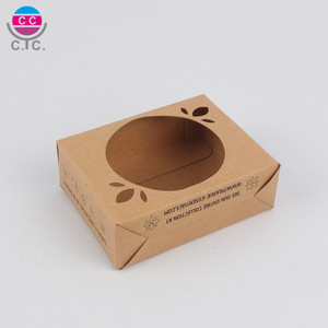 Hot sell customized kraft paper gift box with PVC window