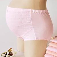 YF19 Cotton cotton big yards adjustable waist shorts care abdomen of pregnant women underwear pregnant Spot Maternity Clothing