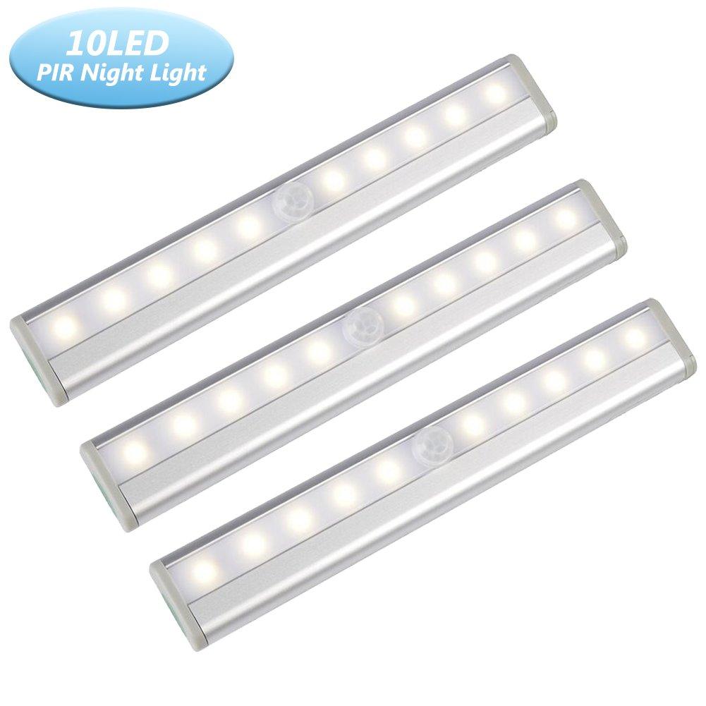 Motion Sensor Closet Light,Wardrobe Lights Rechargeable Under Cabinet Light Wrieless Light Bar with White Light &Warm White Light 2 Modes For Wardrobe,Cabinet,Bedroom,Closet,Corridor,Stairs,Bathroom