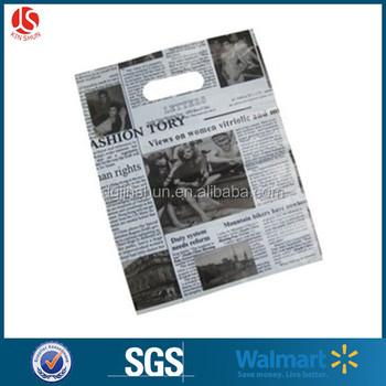 ded09c74ac83 25 35(h)cm Newspaper Design Pe Plastic Shopping Bags - Buy Plastic ...