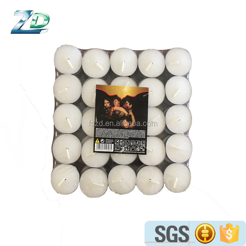 China Supplier Factory Good Price Decorative White Tealight Candles In Poly Bag