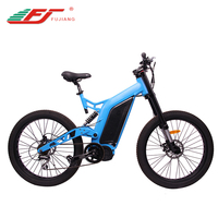 2017 1500w electric fat bike mountain full suspension bicycle
