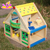 New arrival miniature doll house furniture,Colorful wooden toy doll house,Beartiful wooden pretend doll house toy W06A106