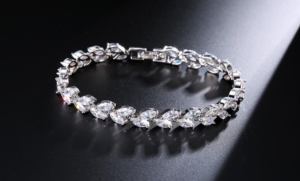 RAKOL B177 Vintage Blanco/rosa/oro 18k cristal micro pave CZ zircon cadena ajustable pulsera de tenis