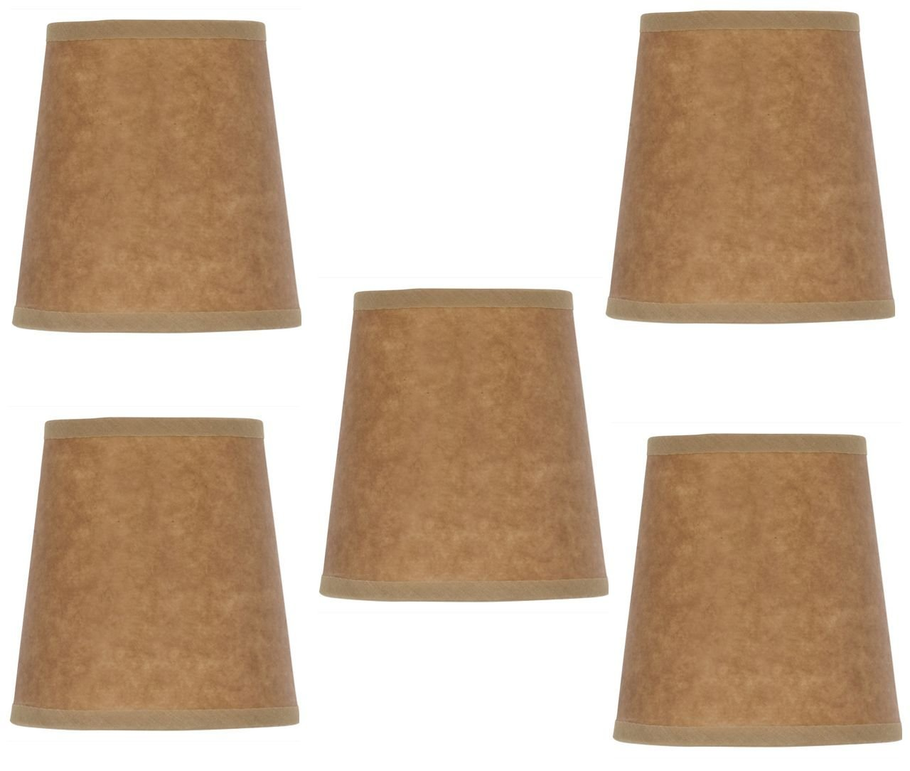 Mini Chandelier Shades Clip On Small Lamp shades set of Five Oiled Craft Paper