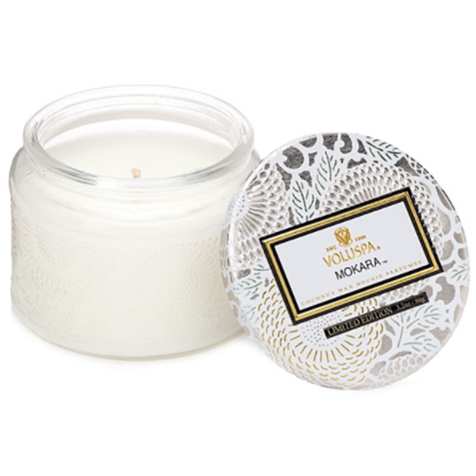 Eco Wick Silver Domed Glass Jar Scented Soy Wax Candle Luxury